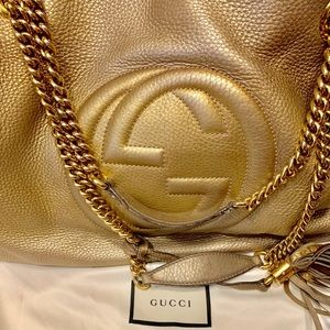 Gold Ombré  Gucci Soho Bag